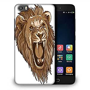 Snoogg vector lion Designer Protective Back Case Cover For Samsung Galaxy J1