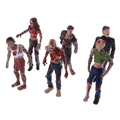 ZOOMY 6 Piezas Caminando Corpses Modelo Terror Zombies