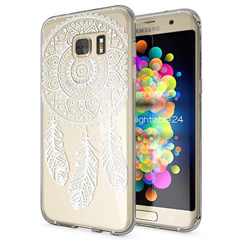 delightable24 Cover Case in Silicone TPU per Smartphone SAMSUNG GALAXY S7 EDGE - Dreamcatcher
