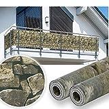 HG® 35mx19cm Sichtschutz Streifen Gartenzaun Folie PVC UV-bestädig für den Gartenzaun oder Balkon inkl. Befestigungsclips