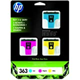 HP CB333EE - Pack de 3 cartuchos de tinta HP 363