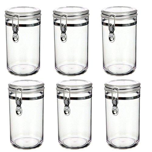 6er Vorratsdosen   Frischhaltedosen Set Mit Bügelverschluss 800ml  Vorratsbehälter / Luftdichte Aufbewahrungsboxen   Für Aufbewahrung  Verschiedenster
