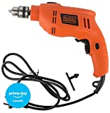 #6: Black + Decker TB555 10mm 550-Watts Reversible Hammer Drill (Orange, 2-Pieces)