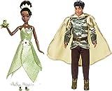 Lot de 2 Poupées Disney Classique Tiana avec la Grenouille, et Prince Naveen – +30 cm