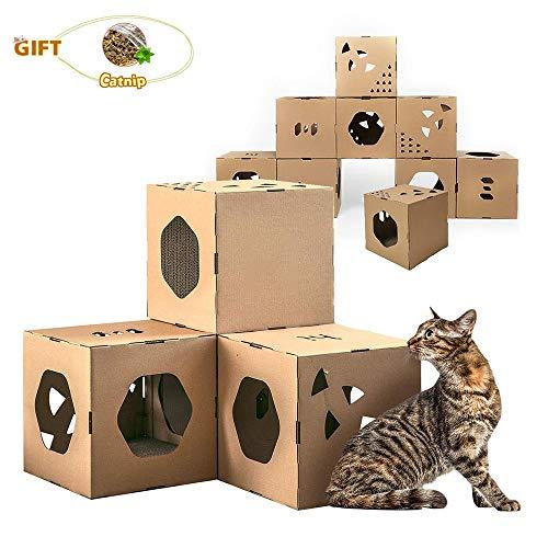 before now DIY Cat Tunnel Cube und Modular Kratzbaum 丨 Bauen Sie Ihre eigenen voll anpassbare Cat House Cat Möbel Cat Apartment