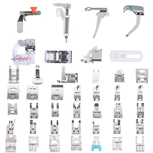 Muzee Multifunktions-Nähmaschinen Fuss 42 teilig Set Profi-Fuß Set für die Brother, Babylock, New Home, Janome, Elna, Toyata, Sänger, Simplicity, Necchi, Kenmore Nähmaschinen - Anleitung Nähmaschine Necchi