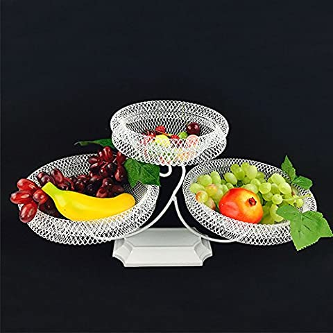 Fruit and Vegetable Basket - 2-Tier Design Classic Vintage Style - Detachable (style 5)