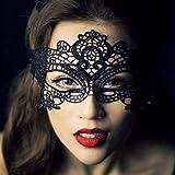 DAYAN Ball Fancy maschera Halloween Veneziana pizzo con lucidissimo nero maschera Regina stile