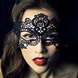 DAYAN Traje Fiesta halloween mujeres Mascarilla Mascarada Mascara Ojos Encaje Negro
