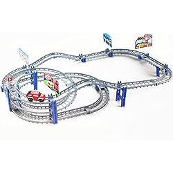 Juegos de Aprendizaje Modelo Espiral Pista Ferrocarril Eléctrico del Coche DIY Niños juguete educativo
