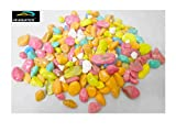 HS Aquatics Aquarium Mix Colour Round Stones- 1Kg Approx.