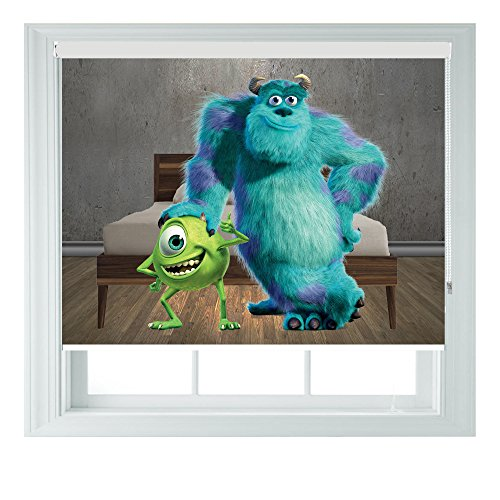 Monsters Inc Mike & Sulley-Verschiedene Größen Black Out Rollo für Schlafzimmer Badezimmer Küche und Wohnwagen AOA®, 3ft 91cm (Mike Baby Monsters Aus Inc)