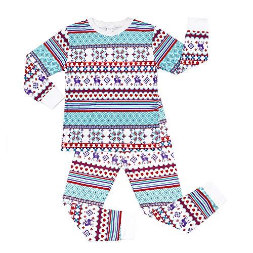 Charmo Jungen Schlafanzug Weihnachten Baumwolle Print Langarm Zweiteiliger Schlafanzüge 2-3 Jahre