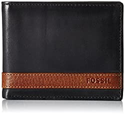 Fossil Black Mens Wallet (ML3644001)