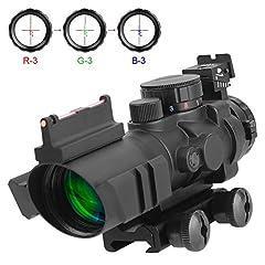 AOMEKIE 4x32mm mit Fiberoptic und
