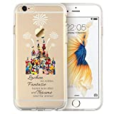 Disney Charakter Fan Art KLAR Silicone Hülle für iPhone X Disney Castle