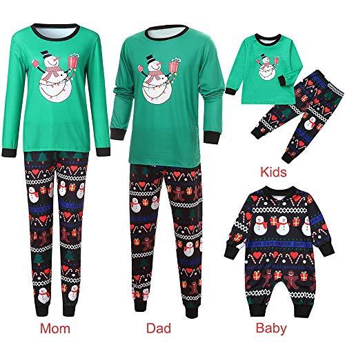 FRAUIT Weihnachten Schlafanzug Familie Passender Sleepyheads Pyjama für die Ganze Familie Baumwolle Pyjamas Kinder PJS Geschenk Set Kinder Nachtwäsche Kleidung Eltern/Pap/Mutter/Kind/Baby