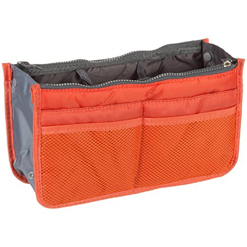 Purse Organizer Insert Multi-function Cosmetic Storage Bag in Bag(03 Orange) by GorgeousCC