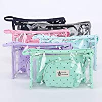 Yeshai3369 Set of 3 PVC Travel Cosmetic Toiletry Organizer Pouch Bag Makeup Storage Bag Purse Blue