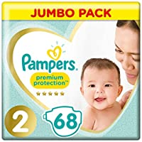 Pampers Premium Protection, 68 Couches, pour bébé, taille 2 (4-8 kg)