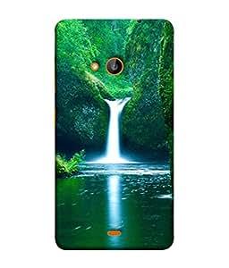 PrintVisa Designer Back Case Cover for Microsoft Lumia 540 Dual SIM (Forest Landscape Environment Terrain Drawings)