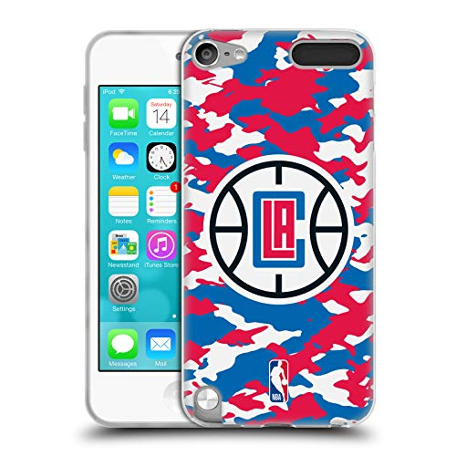 Head Case Designs Offizielle NBA Camouflage 2018/19 Los Angeles Clippers Soft Gel Hülle für Apple iPod Touch 5G 5th Gen
