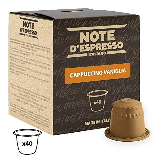 Note D'Espresso - Cápsulas de capuchino de vainilla instantáneo, 6,5g (caja de 40 unidades)