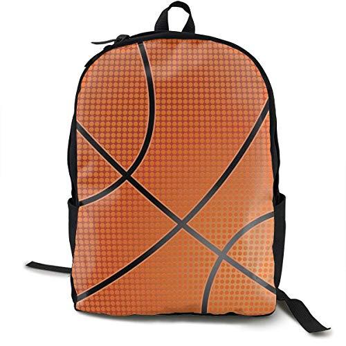 atopking Basketball-Segeltuch-Rucksack-Klassische grundlegende Mehrzweckrucksäcke für Jugend-Frauen und Männer