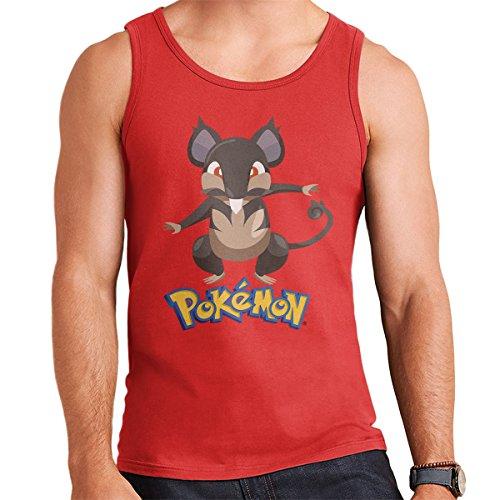 Alola Rattata Pokemon Sun Moon Men's Vest Red
