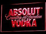 Absolut Vodka LED Zeichen Werbung Neonschild Rot