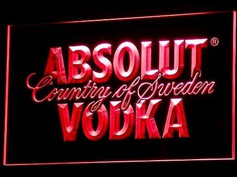 Absolut Vodka LED Zeichen Werbung Neonschild Rot (Werbung Absolut Vodka)