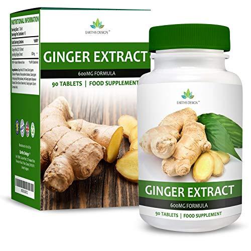 Extrait de Gingembre 600mg - Extrait Haute Concentration 20:1 - Ginger Root - Convient aux...