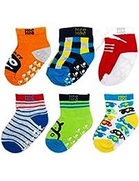 Mee Mee Baby Boys Cotton Anti-Skid Cozy Feet Socks (Multicolour, 12-24 Months)