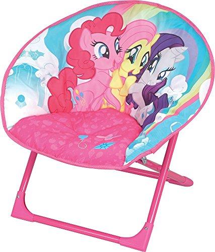 FUN HOUSE Mon Mon Petit Poney Siège Lune Pliable pour Enfant/My Little Pony, Acier, 54x45x47 cm
