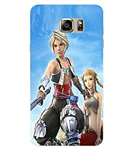 ColourCraft Warrior Girl Design Back Case Cover for SAMSUNG GALAXY NOTE 7