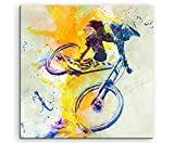 VTT DH 60x 60cm Décoration murale Sport image Aquarelle...