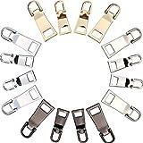 16 Stücke Reißverschluss Ziehen Registerkarten Reißverschluss Reparieren Ersatz für Kleidung Taschen DIY Handwerk, 2 Größen, 4 Farben