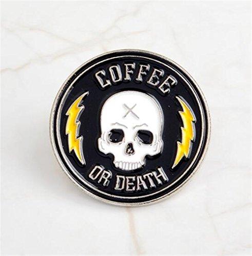 VEA-DE Buttons & Abzeichen Vintage Skull Broschen Button Abzeichen für Kleidung Shirt Caps Taschen Geschenke