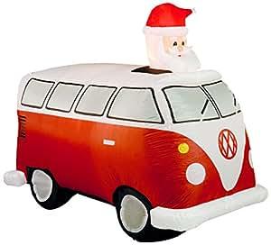 Brite Ideas 27cm aufblasbare Wohnwagen mit Santa im Schiebedach (mit einem Dreistiftstecker - Adapter benötigt)