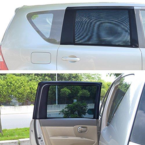 """Preisvergleich Produktbild TFY Universal Sonnenblenden für quadratische, hintere Autoseitenfenster - Für Autos mit Seitenfenstern von 29.5'' - 41.5'' Breite x 19"""" Höhe (regelmäßig Fenster)"""
