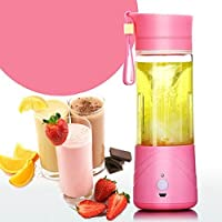 LEDZZ Portable Usb Electric Juicer with Sipper,Blender With Power Bank 2000 Mah - 380Ml Juicer Cup (MULTI COLOUR)