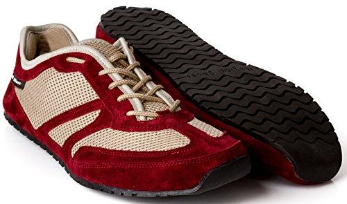 Magical Shoes Explorer Barfußschuhe | Damen | Herren | Jugendliche | Laufschuhe | Zero Drop | Flexibel | Rutschfest, Größen:42/270mm, Farbe:MS Explorer Friuty Claret - Beige/Weinrot