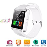 Bluetooth Smart Watch Uhr für Android iOS Smartphones, Letopro U8 Smartwatch Intelligente Armbanduhr mit Schrittzähler/Remote Fotografie/Stoppuhr, Smart Gesundheit Armbanduhr für iPhone Samsung Huawei (Weiß)