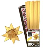 Karen Marie Papierstreifen für Fröbelsterne, Luxus Supergold