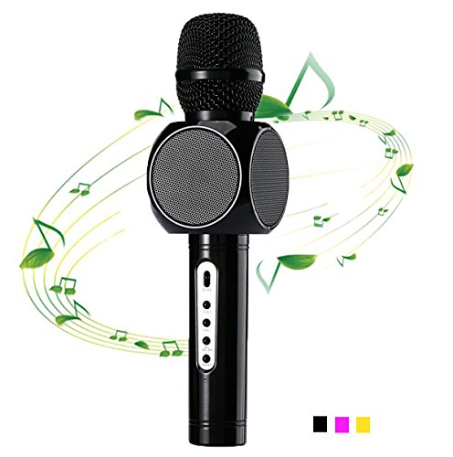 ESHISHANG Multi Magie Karaoke Player Portable Wireless Bluetooth Lautsprecher Mikrofon Mit Mikro Mode Zu Hause Mini Karaoke Player KTV Singen Rekord für Apple Samsung iPhone Handys (schwarz)