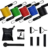 TOPELEK Widerstand Bänder, Resistance Band Set 5er, 150LBS Fitness Band für Gym Trainingsband- 5X Widerstandsband, Übungsband, Trainingsband, Gymnastikband,Expander Set