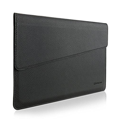 """MacBook 12 Sleeve, Evecase Sottile in Pelle Premium Custodia Portatile per 2015 Nuovo MacBook 12"""" con Retina Display - Nero"""