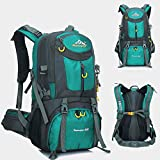 Sports Outdoors Best Deals - Feichen 50L Unisex Outdoor Sports Rucksack Waterproof Backpack Daypack Bags for Men Women Hiking Trekking Camping Travel with Rain Cover (Blue)