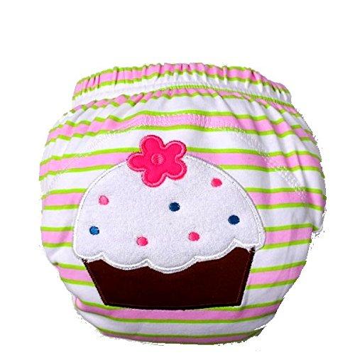 BABYFRIEND ** 1er, 2er, 3er oder 4er SPARPACK ** Waschbare Lernwindel zum Sauberwerden -- für 10-14kg -- Trainers / TrainerHosen / Unterhosen (entspricht ca. Gr. 80/86/92/98/104) (1 x Trainer, Cake)
