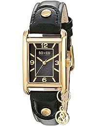SO & CO New York 5024.2 - Reloj de cuarzo para mujeres, negro